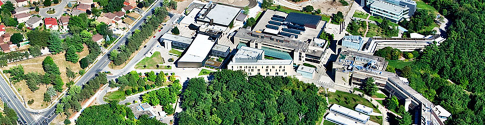 An aerial                 view of U of T Scarborough Campus